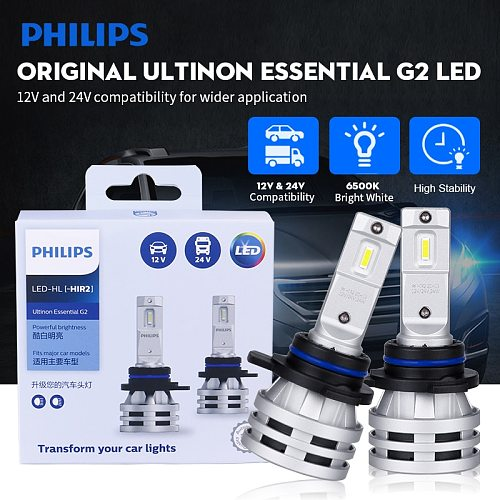 H7 LED Philips Ultinon Essential G2 LED лампа h1 philips led H4 H8 H11 H16 HB3 HB4 HIR2 9003 9005 9006 9012 6500K Car Fog Lamps