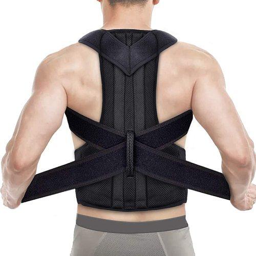 Posture Corrector Back Support Shoulder Adjustable Back Brace Posture Correction Spine Men Women Universal Postural Fixer Tape