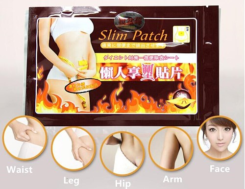 1 pack=10pcs  Slimming Navel Stick Slim Patch Weight Loss Fat Burning