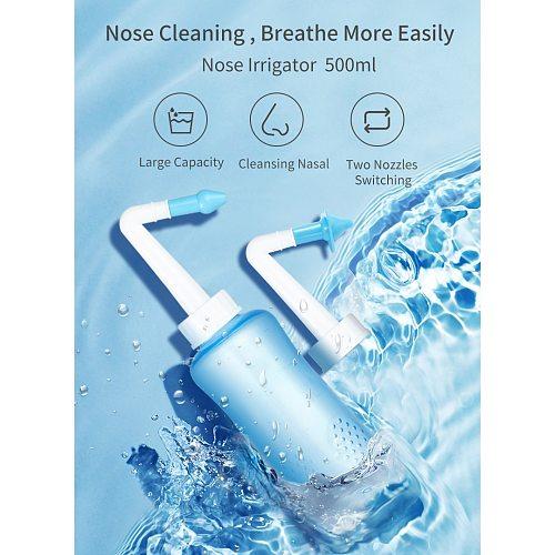 Winner Nasal Irrigator 500ML Adult Children Nose Cleaning Nasal Rinse Nasal Wash Cleaner Spray Neti Pot Avoid Sinusitis Rhinitis