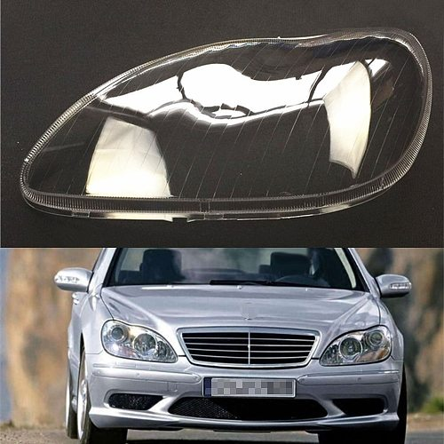Headlight Lens For Mercedes-Benz W220 S600 S500 S320 S350 S280 1998~2005 Headlamp Cover Car Replacement Front Head Auto Shell