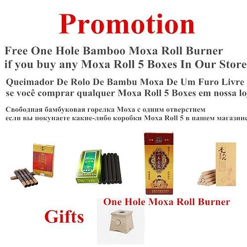 Bamboo Moxa Burner Moxibustion Box Acupuncture Roller Stick Holder Neck Arm Body Acupoint Massage Moxibuting Therapy Device