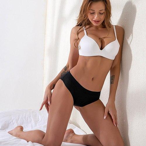 Leak Proof Menstrual Period Panties Women Underwear Physiological Pants 4Layer Bamboo Fiber Women Period Underwear Dropshipping