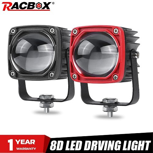 2 Inch 8D Lens Led Work Light 6000K White 3500K Yellow Driving Light Fog Lights Spotlight Car Truck Off Road Motorcycle 12V 24V
