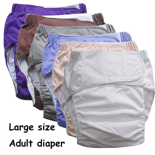 Super large Reusable adult diaper for old people and disabled, size adjustable TPU coat Waterproof  Incontinence Pants undewear