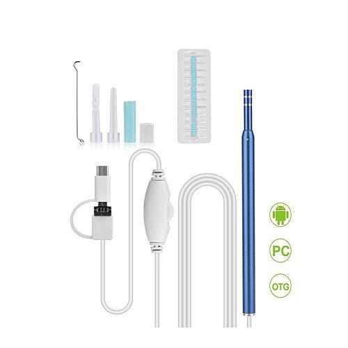 Ear Cleaning Endoscope 2 in1 USB HD Visual Ear Spoon 5.5mm Mini Camera Android PC Ear pick Otoscope Borescope Tool Health Care