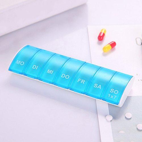7 Days Weekly Pill Organizer Tablet Pill Storage Box Plastic Medicine Box Splitters JAN88