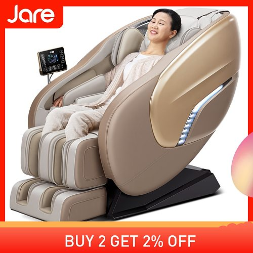 Jare X8 Display Lcd Remote Control Luxury 4D Foot Spa Factory Price Kneading Shiatsu Blue-Tooth Full Body Massage Chair