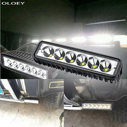Car LED Work Light Light Bar Spot Flood Worklight 12V 18W For Bright White Lighting for Truck Tractor Offroad Vehicle 4Pc/2Pc/1P