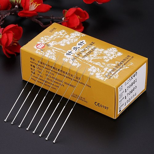 200pcs/box reusable silver surface acupuncture needle Genuine tianxie acupuncture needles non-disposable  massager health