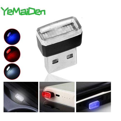 Mini Small USB LED Light Car Styling Interior Decorative Ambient Emergency Lighting Portable Accessories Red Blue White Purple