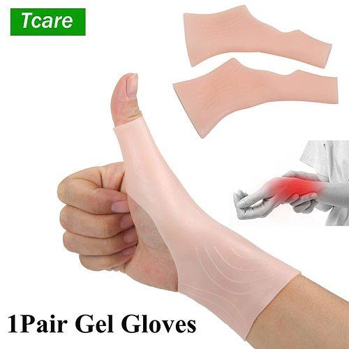 Tcare 2Pcs Gel Wrist Support Braces Carpal Tunnel Wrist Brace Great Tenosynovitis Typing Wrist & Thumb Pain Rheumatism Arthritis