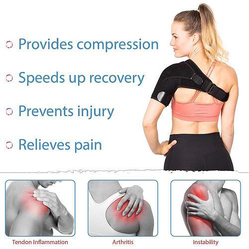 Adjustable Left/Right Shoulder Support Bandage Protector Brace Joint Pain Injury Shoulder Strap Tennis Sport Training Equipment