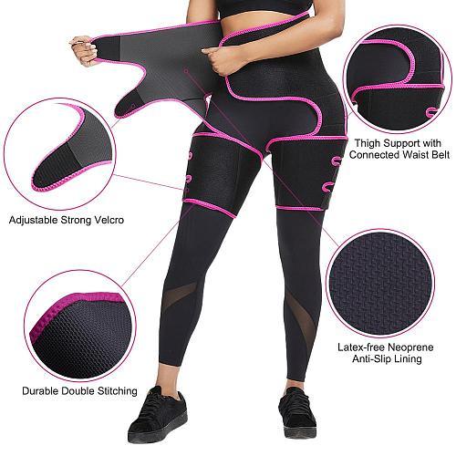 Woman Neoprene Sweat Body Shaper Legs Shaper Slimming Control Fat Shapewear Women's Support Belt Legs Slimmer Reduce Wraps