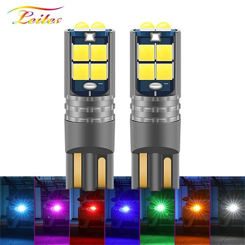 1pcs New T10 LED Canbus W5W 3030 10SMD 10W 12V-24V 194 168 Auto LED Car Interior Light plate Dome Reading Lamp Clearance Light