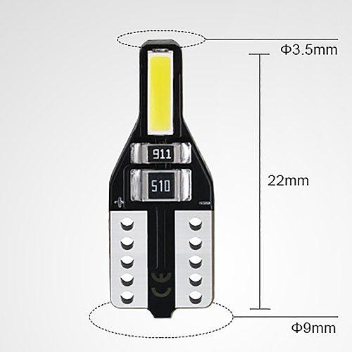 20Pcs LED T10 501 194 W5W 7020SMD Car CANBUS Error Free Wedge Light Bulb White