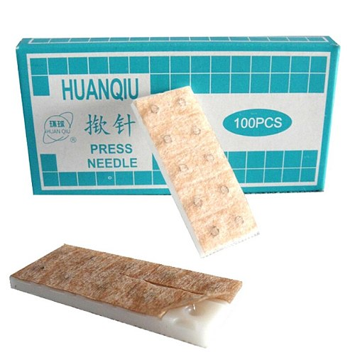10 boxes (1000pcs) sterile ear press needle Auricular acupuncture needle Intradermal needle blessfun