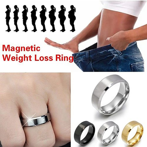 2021 Stainless Steel Magnetic Rings Medical Magnetic Weight Loss Ring Slimming Tools Fitness Reduce Weight Ring