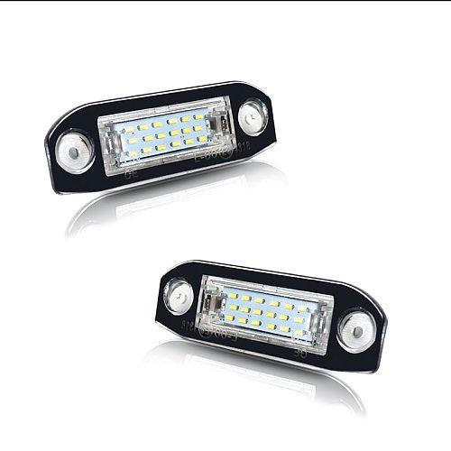 iJDM For Volvo S60 V60 V50 XC60 XC70 XC90 etc Super Bright Canbus Error Free Xenon White LED Car License Plate Number Lights 12V