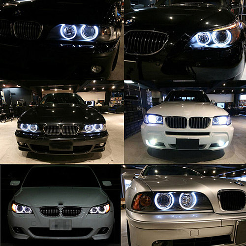 2Pcs 80W Error Free LED Angel Eyes Marker Lights Bulbs For BMW E39 E53 E60 E61 E63  E65 E66 E87 525i 530i xi 545i X3 M5 X5 00-09