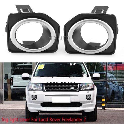 1pcs fog lights cover For Land Rover Freelander 2 LR2 2013- 2014 2015 2016 Front bumper fog lamp Foglight cap Frame Shell