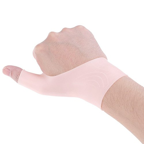 2pcs Arthritis Pressure Corrector Gloves Silicone Gel Therapy Wrist Thumb Support Gloves for Right & Left Hand Relief Pain