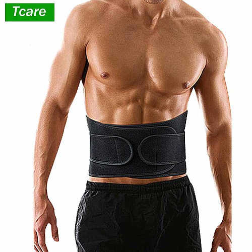Tcare 1Pcs Back Support Adjustable Back Brace Lumbar Support Belt with Breathable Dual Adjustable Straps Lower Back Pain Relief
