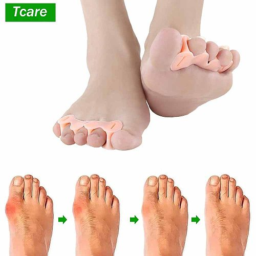 Tcare 1Pair Bunion Corrector Relief Protector Bunion Toe Straightener Natural Treat Pain Hallux Valgus Toes Joint Toe Separators