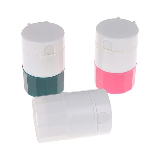 4 in 1 Portable 4 Layer Powder Tablet Grinder Powder Pill Cutter Medicine Splitter Box Storage Crusher