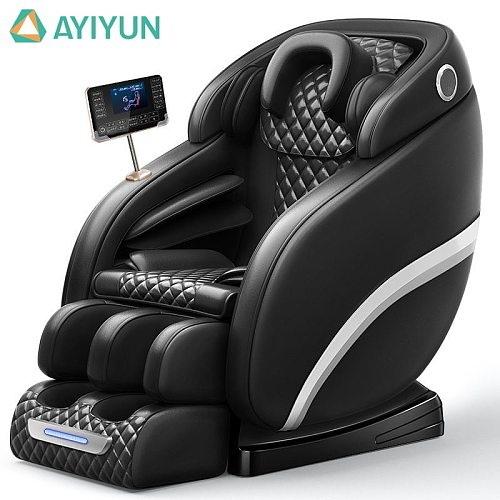 AYIYUN Latest Leather Touch Screen Foot Massager Technology Zero Gravity Cover Shiatsu Full Body Massage Chair 6687N