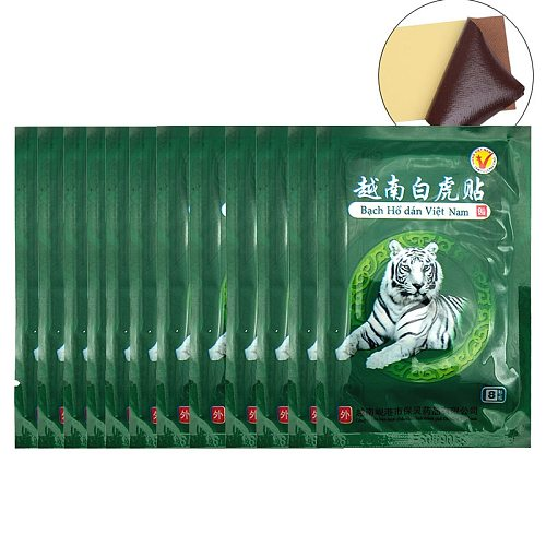 104Pcs Vietnam White Tiger Balm Pain Patch Body Neck Massager Meridians Stress Relief Arthritis Capsicum Plaster C161