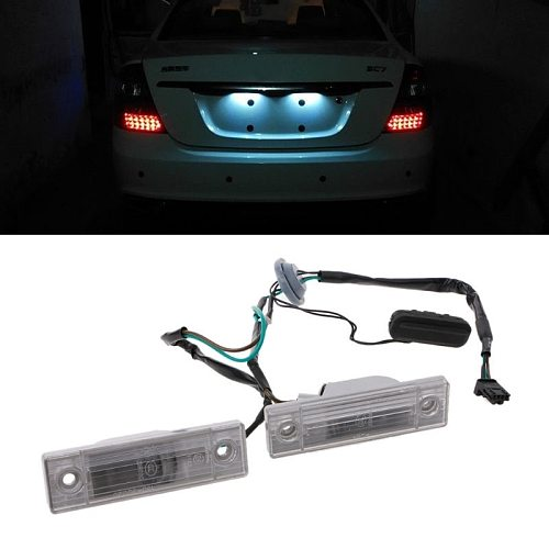 Rear Back License Plate Light With Trunk Switch Button For Cruze Chevrolet Number Plate