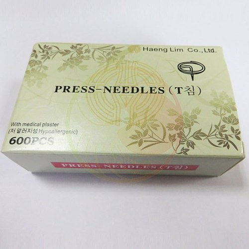 600 pcs disposable sterile ear press needles auricular acupuncture needles 0.20*1.5mm ear massage plaster