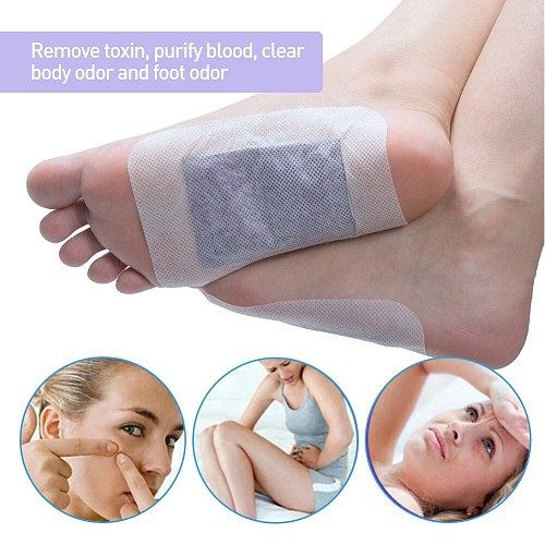 Sumifun 12pcs/Box Lavender Essential Detox Foot Patch Adhesive Body Toxins Feet Slimming Patch #280370
