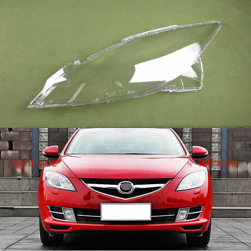 For Mazda 6 M6 2009 - 2015 Sedan 4Dr Headlamps Transparent Cover Lampshade Lamp Shell Masks Headlight Cover Lens Headlight Glass