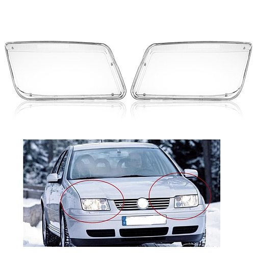 NEW REPLACEMENT PLASTIC HEADLIGHT LENSES COVER FOR 99-05 VW JETTA BORA MK4 RIGHT
