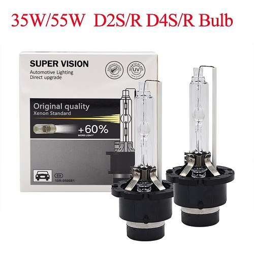 2021 NEW 55W Xenon D2S HID Bulb 4300K D4S 6000K D2R 5000K D4R 8000K Auto Headlight Bulb 35W 55W Original D2S D4S Xenon HID Bulb