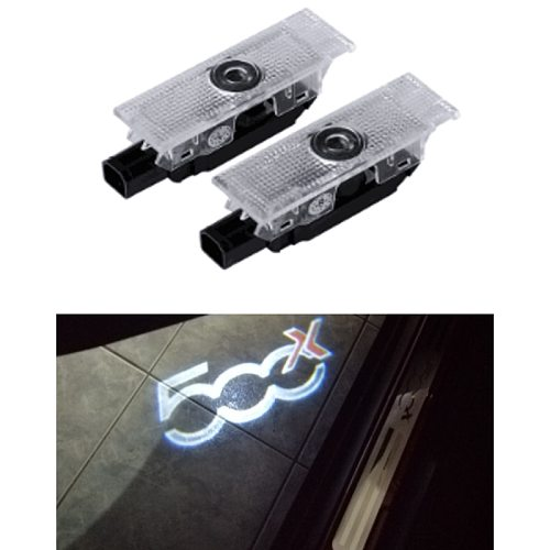 2PCS Car Door Welcome Light Projector LED For 500x 500L And PUNTO-01 Auto Logo Laser Ghost Shadow Lamp