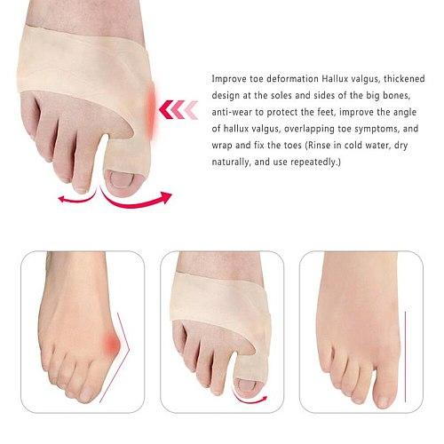 Tcare 1Pair New Gel Orthopedic Bunion Corrector Sleeves - Foot Bunion Protector- Hallux Valgus Original Big Toe Bunion Corrector