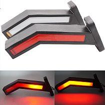 2pcs/4pcs 12V 24V Trailer Side Marker Lighting Truck Van LED Light Universal LED Neon Stalk Lamp Waterproof Outline Marker Light