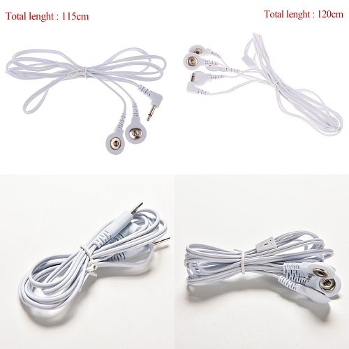 2/4Buttons Electrotherapy Electrode Lead Wires Cable For Tens Massager Connection Cable Massage & Relaxation 2.5/3.5mm
