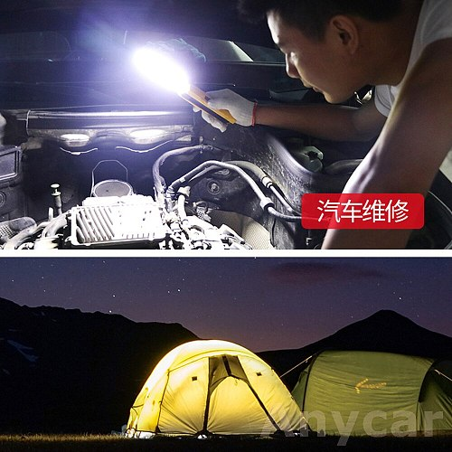 Led Work Light Portable COB Worklight Lamp Work Lamp Werklamp Flashlight XPE Working Light Searchlight USB Rechargeable 10W