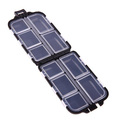10 Compartments Medicine Pill Storage Case Box Weekly Medicine Case Plastic Fishing Lure Spoon Hook Bait Tackle Box Fishhook Box