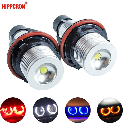 2Pcs LED Angel Eyes Marker Lights Bulbs For E39 E53 E60 E61 E63 E64 E65 E66 E87 525i 530i xi 545i M5 Error Free 2*5W