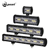 NLpearl 3-Row Combo LED Bar Offroad 4-20  Spot Flood 12V 24V LED Light Bar for Car Boat Truck Suv 4x4 Tractor Atv LED Work Light