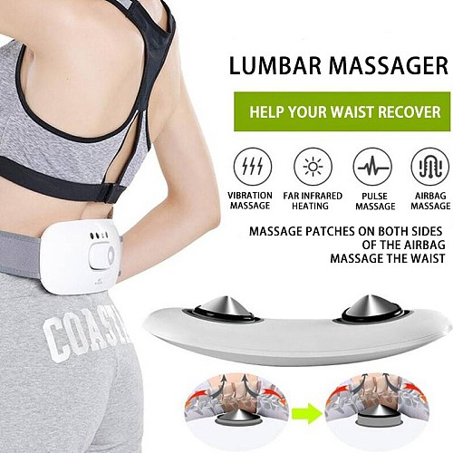 Back Pain and Numbness Relief in Home Office and Car Back Waist Massage Massager Fitness Lumbar Support Waist Spine Pain Relief