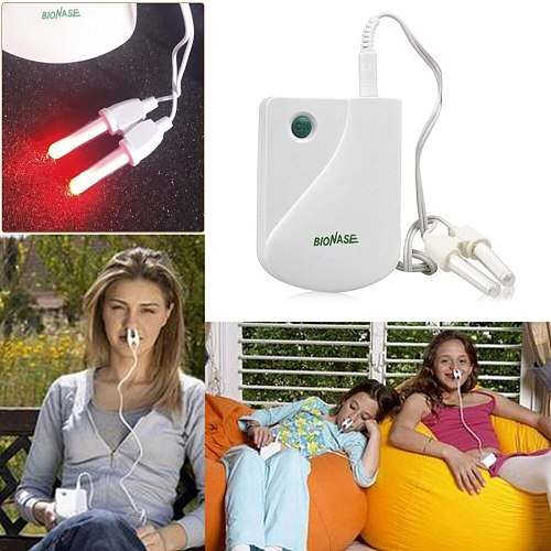 Health Care Nase Rhinitis Sinusitis Nose Therapy Massage Device Cure Hay Fever Low Frequency Pulse Laser Therapentic Masseur