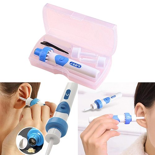 Portable Electric Cordless Ear Wax Remover Vacuum Ear Cleaner Painless Cleaning Spiral Ear-Cleaning Device Dig Wax Earpick