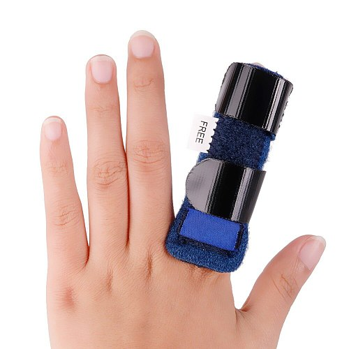1Pcs Pain Relief Aluminium Finger Splint Fracture Protection Brace Corrector Support With Adjustable Tape Bandage #255335