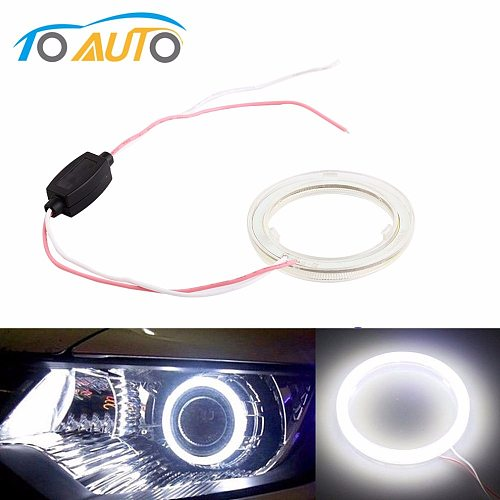 1pcs Auto angel eyes halo rings 6000k cob led headlight 60/70/80/90/100/110/120 mm Car Motorcycle For BMW E36 E39 E60 E92 E63